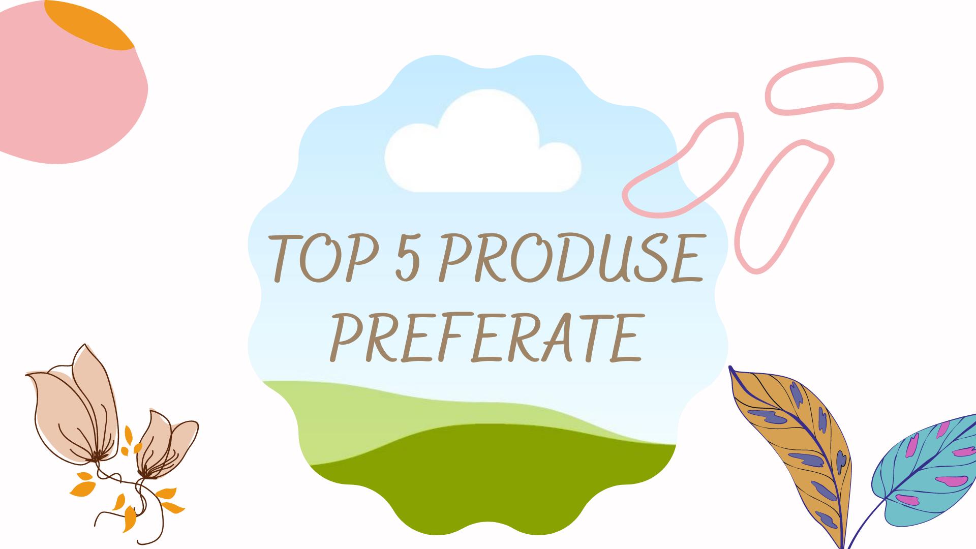 Top 5 produse preferate – sprâncene